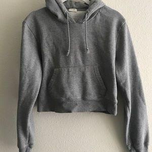 brandy melville grey cropped hoodie